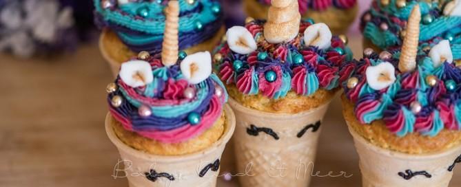 Rezept Einhorn Cupcakes