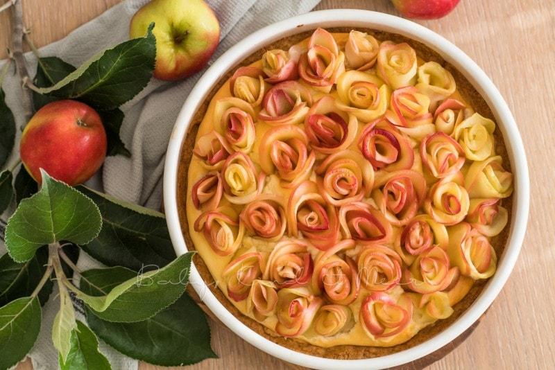 Apfelkuchen Kaesekuchen Apfelrosen 10
