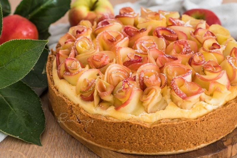 Apfelkuchen Kaesekuchen Apfelrosen 12