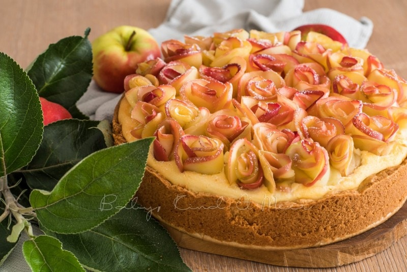 Apfelkuchen Kaesekuchen Apfelrosen 14
