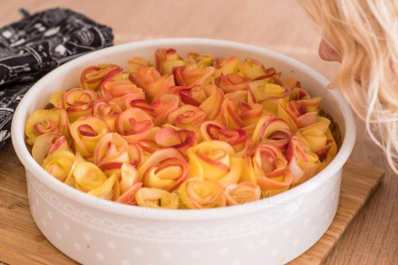 Apfelkuchen Kaesekuchen Apfelrosen 8