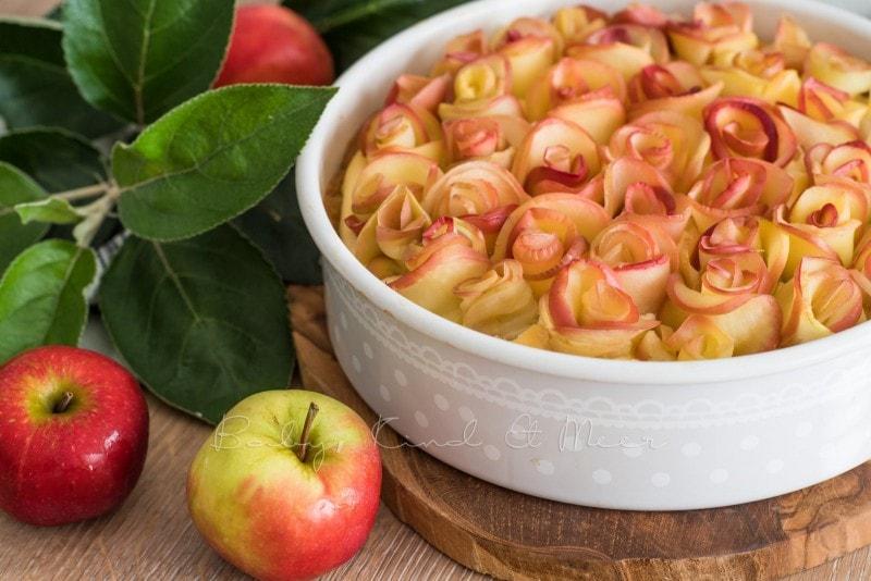 Apfelkuchen Kaesekuchen Apfelrosen 9