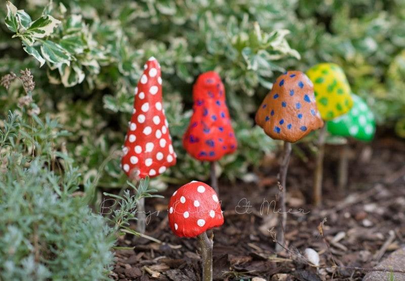 Pilze aus Knetbeton 4