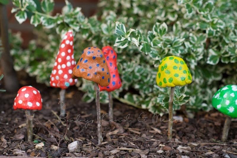 Pilze aus Knetbeton 7