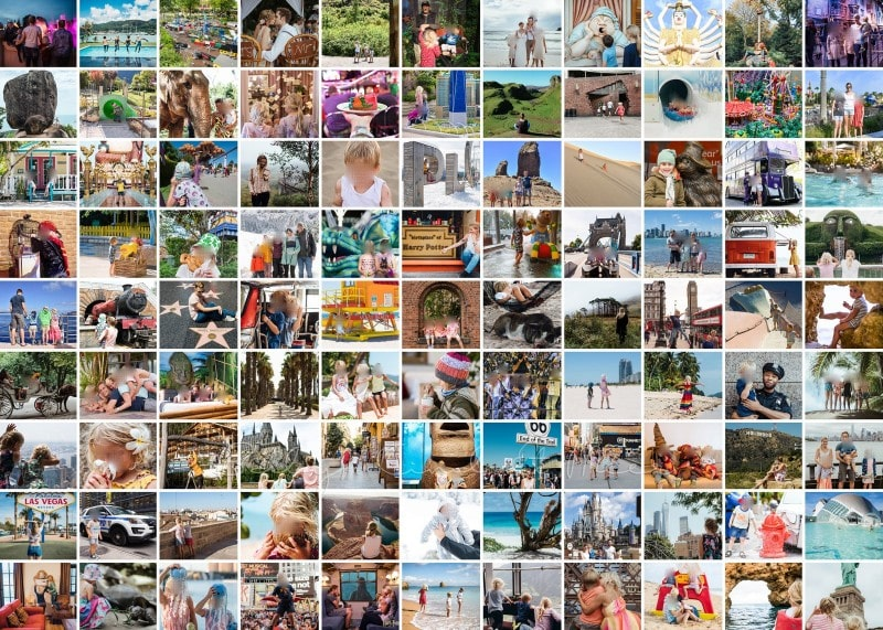 1000 teile familien foto collage puzzle schmal ohne rand klein