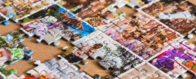 Fotocollage Puzzle selber machen