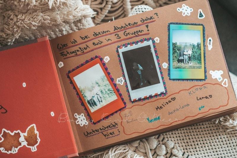 Adventure Buch Schnitzeljagd Fotobuch Kindergeburtstag babykindundmeer 18